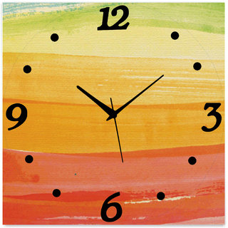 Vidhi Creation Square Analog Wall Clock SHW0053 25 - Pack of 1