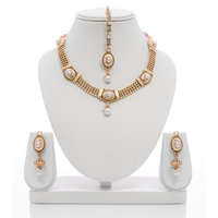Senorita Traditional Necklace Set PS0018 With Pearls And Antique Plating