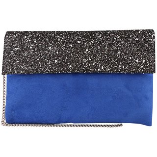 Tarusa Blue Embroidered Clutch