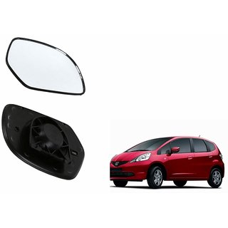 Autonity Car Rear View Side Mirror Glass LEFT-Honda Jazz
