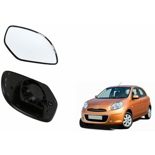 Autonity Car Rear View Side Mirror Glass LEFT-Nissan Micra