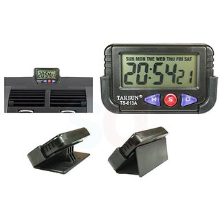DLT- Taksun Car Dashboard  / Office Desk Alarm Clock and  Stopwatch with Fl