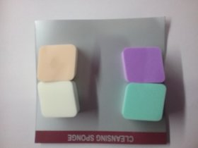 Facial Sponge Makeup Clean Wash Pad Soft Scrub Cosmetic Puff /small/4pc