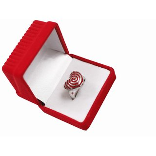 Stainless Steel Ring Red