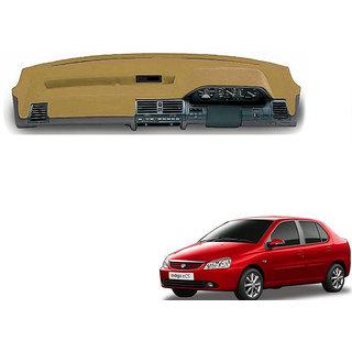 Autonity Car Premium Dashboard Cover Beige For Tata Indigo