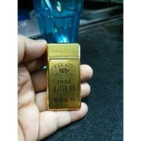 10oz GOLD BAR DUAL FLAME CIGARETTE LIGHTER -PIA INTERNA