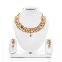 Senorita Traditional Necklace Set PS0023 With Antique Gold Finishing