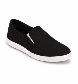 Groofer Men's Black Slip On Casual Shoes