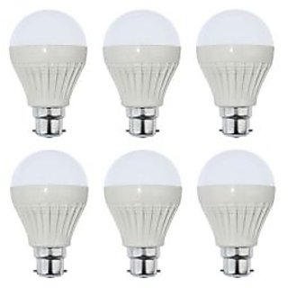 9W Led Bulbs Set Of 6 Pcs