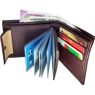 Wenzest Brown Mens Wallet upto 10 cards packets
