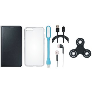 Oppo F1 Plus Cover with Spinner, Silicon Back Cover, Earphones, USB LED Light and USB Cable