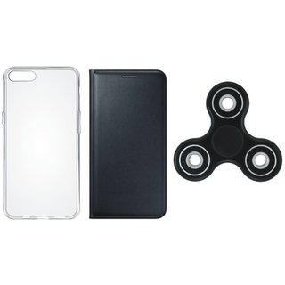 Redmi Y1 Stylish Cover with Spinner, Silicon Back Cover, Free Silicon Back Cover