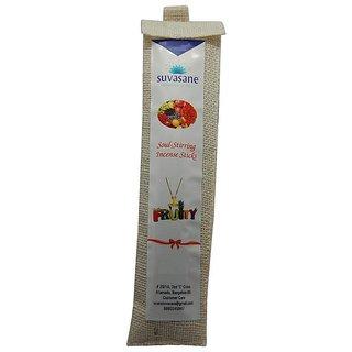 Fruity perfumed 9 inch incense sticks in Jute bag