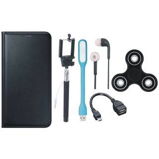 Oppo F1s Cover with Spinner, Selfie Stick, Earphones, OTG Cable and USB LED Light
