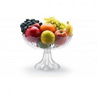 Nueva Kitchen Storage Transparent Fruit Basket and Vegetable Basket With Folding Stand