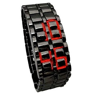 New Red Metal Led bracelet Latest Designing Stylist Digital Watch