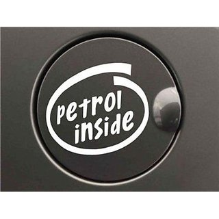 WHITE Petrol inside Decal / Sticker for Car Fuel Lid. White color car sticker