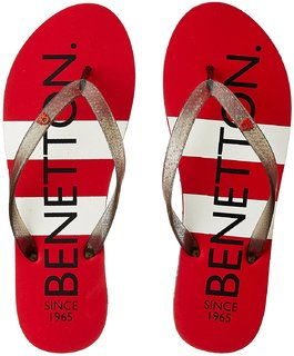 UCB Women's Red Flip-Flops and House Slippers