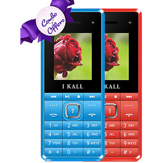 IKall K2180 (Dual Sim, 1.8 Inch Display, Selfie Camera, 800 Mah Battery, Made In India, Blue) and Get IKall K2180 Free