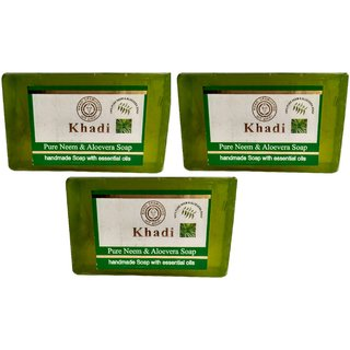 Khadi Neem Alovera Soap  125 gm (Pack of 3)