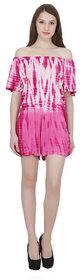 NIOMI Viscose stylish Pink Jumpsuit For Girls/Women's