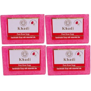 Khadi Rose Water Soap  125 gm (Pack of 4)