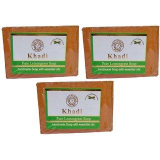 Khadi Lemon Grass Soap  125 gm (Pack of 3)