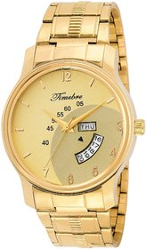 Timebre Men Magnificent Gold Day  Date Analog Watch