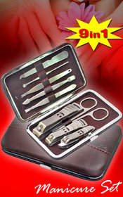 9 in 1 Manicure Set Nail Art Clipper Pedicure Tweezer Cutter Earpick Tool Kit 04