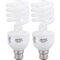Halonix Twister Base B22 27-Watt CFL Bulb (Pack of 2, Cool Day Light)
