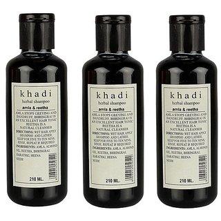 Khadi Amla and Reetha Shampoo 210 ML (Pack of 3)