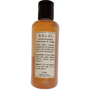 Khadi Honey and Vanilla Shampoo 210 ML (Pack of 1)
