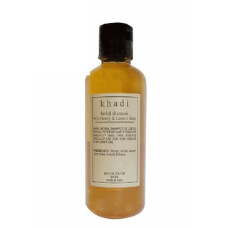 Khadi Honey & Lemon Juice Shampoo 210 ML (Pack of 1)