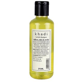 Khadi Saffron Tulsi Extra Conditioner Shampoo 210 ML (Pack of 1)