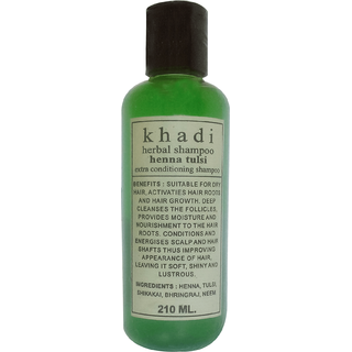 Khadi Heena Tulsi Extra Conditioner Shampoo 210 ML (Pack of 1)
