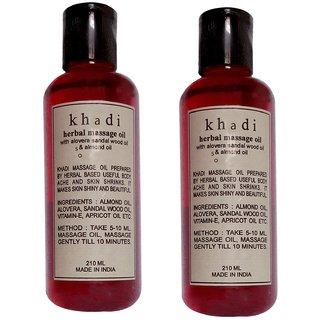 Khadi Sandalwood Massage Oil 210ml (Pack of 2)