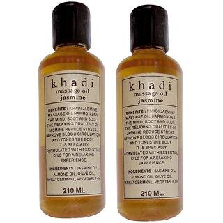 Khadi Jasmine Massage Oil 210ml (Pack of 2)