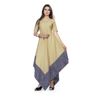 259d0632e Buy BanoRani Beige Printed Polycotton Unstitched Kurti Online - Get 47% Off