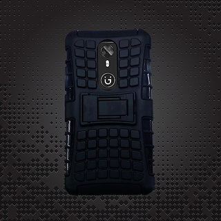 HM Gionee A1 Defender Stylish Hard Back Armor Shock Proof Case Cover With Back Stand Feature