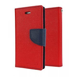 BS Mercury Goospery Fancy Diary Wallet Flip Cover for REDMI  4A -RED
