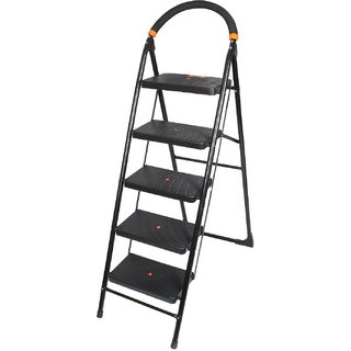 BRANCO Folding Ladder with Wide Steps - Milano 5 Steps-(7 Year Warranty Made In India)