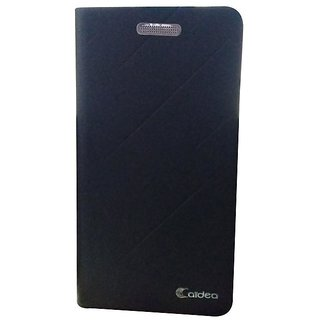 BS Caidea Royal Flip Cover For Moto E4 plus - Black