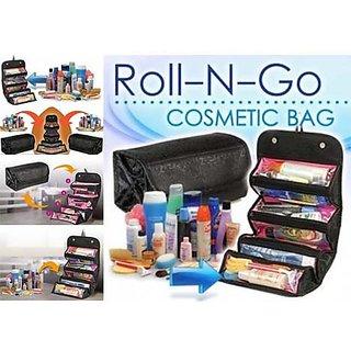 0ef60c5caf87 Roll N Go 4 In 1 Travel Buddy Cosmetic Shaving Toiletry Bag Jewellery  Storage Organizer (