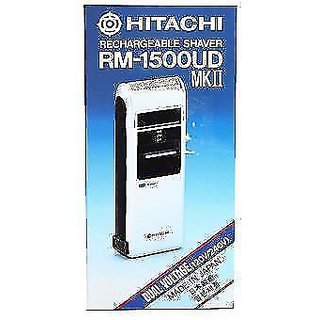 Hitachi RM-1500UD II Cordless Rechargeable Travel Shaver Razor Dual Voltage