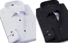 Black  White dotted shirt combo