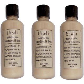 Khadi Sandal wood Moisturizer 210 ML  (Pack of 3)