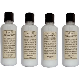 Khadi Jasmine Moisturizer 210 ML  (Pack of 4)