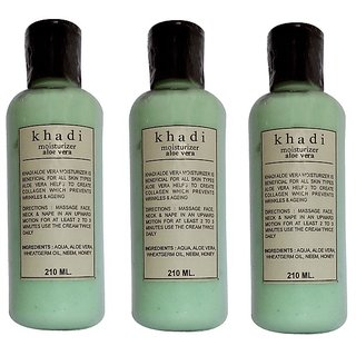 Khadi Aloe Vera Moisturizer 210 ML  (Pack of 3)