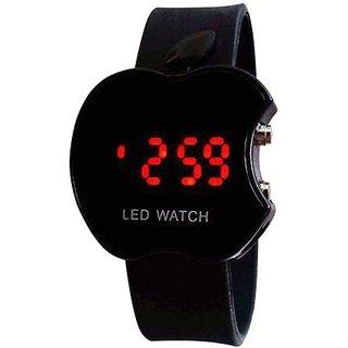 i DIVAS Fashion Black Apple Cut LED Watch