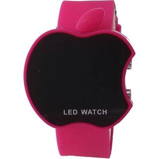 Apple Pink LED Digital Wrist Watch For Kids